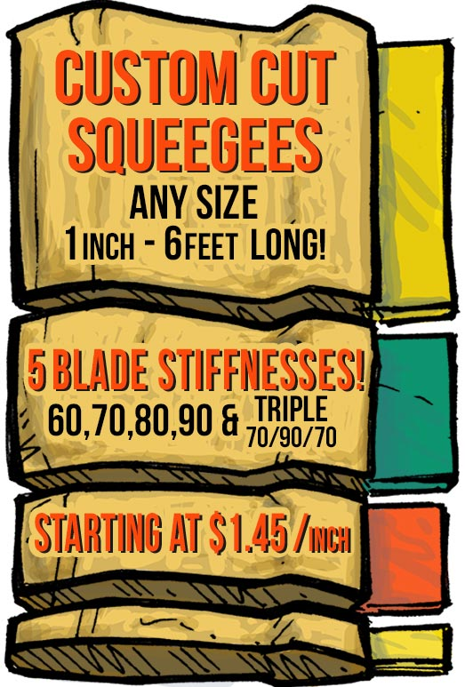Custom Cut Squeegees