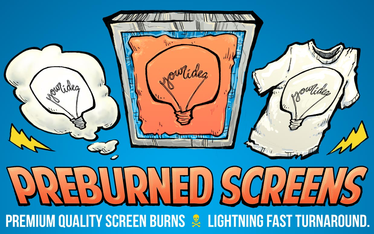 pre-burned screens
