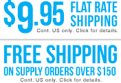 free and flat rate shipping
