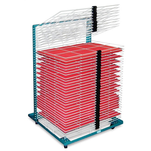 AWT Portable Poster Drying Rack   50 Shelf